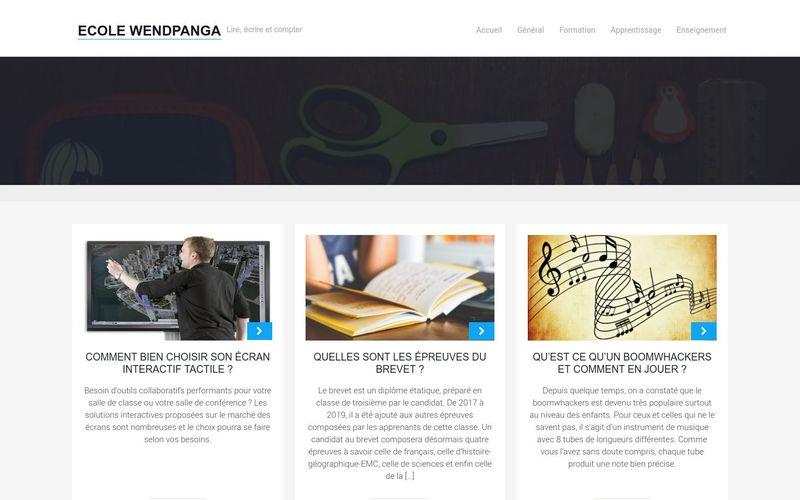 Ecole Wendpanga - Lire, écrire et compter